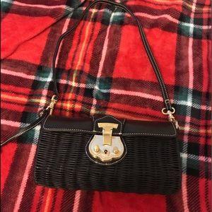 Talbots black basket purse